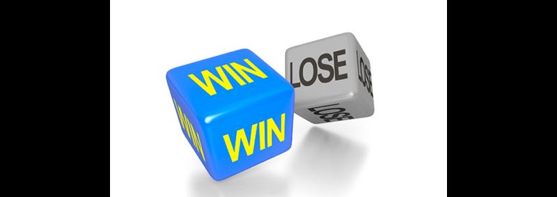 image of dice - win-lose