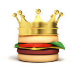 image of burger and crown