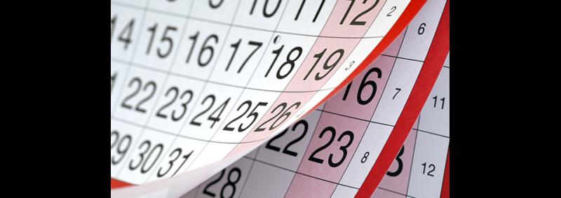 image of calendar flipping