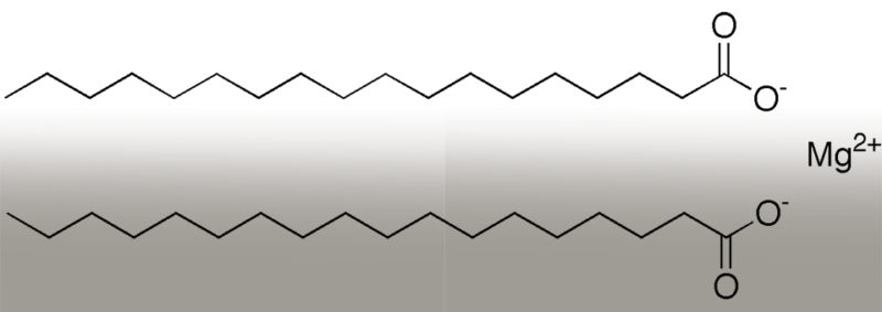graphic image of chemical compound of magnesium stearate