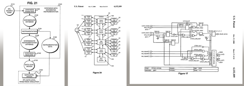 image containing images of US patent drawings '376 and '109 as illustration for patent case summary