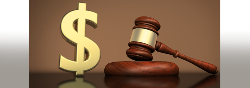 representation of attorneys fees image of dollar sign and gavel